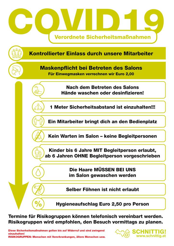 Covid19 Information Schnittig
