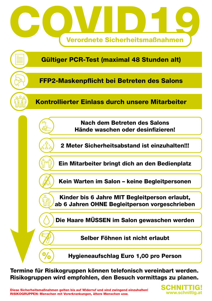 Covid Info Schnittig
